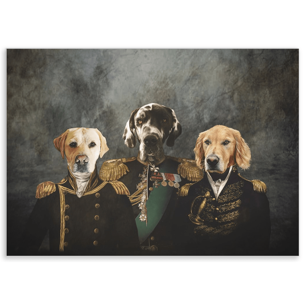 'The Brigade' Personalized 3 Pet Poster