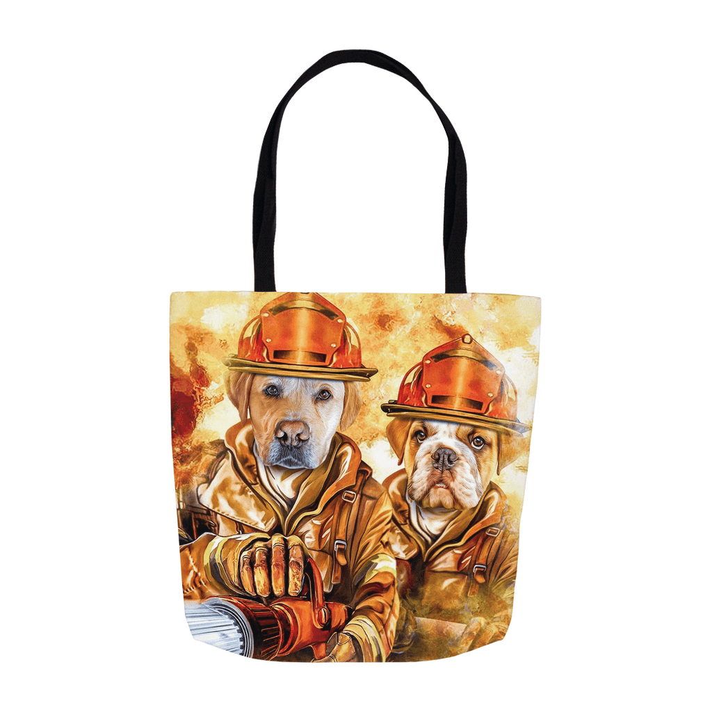 'The Firefighters' Personalized 2 Pet Tote Bag
