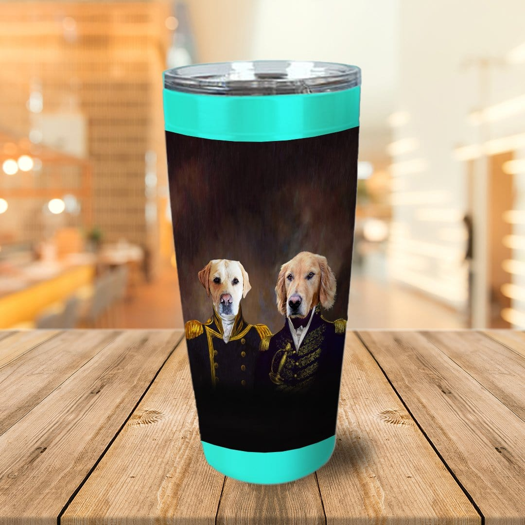 The Admiral And The Captain Personalized 2 Pet Tumbler
