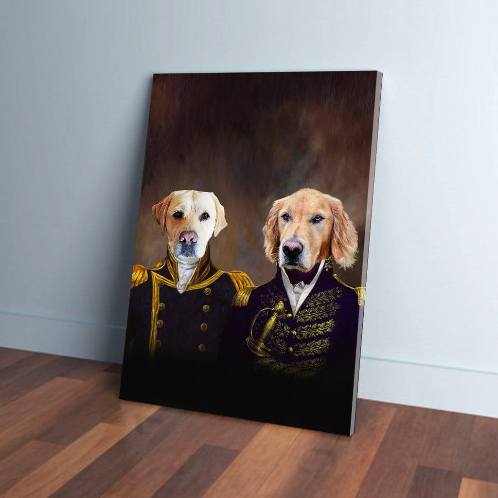 'The Admiral and the Captain' Personalized 2 Pet Canvas