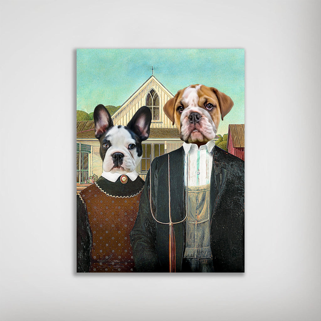'American Pawthic' Personalized 2 Pet Poster