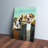 'American Pawthic' Personalized 2 Pet Canvas