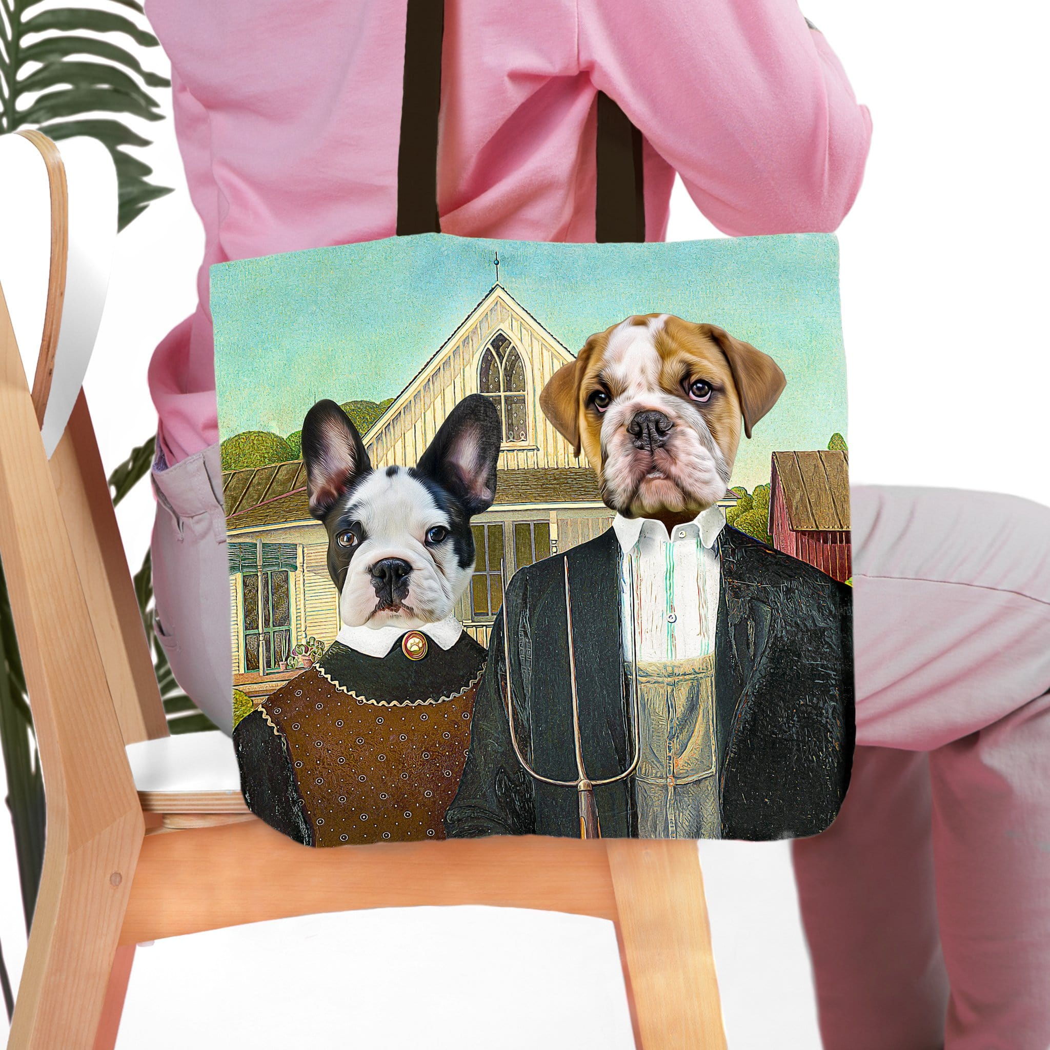 'American Pawthic' Personalized 2 Pet Tote Bag