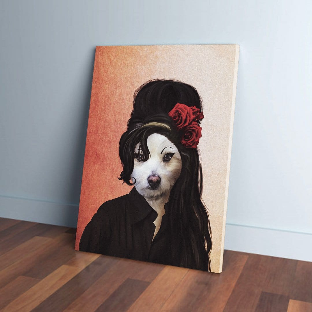 'Amy Doghouse' Personalized Pet Canvas