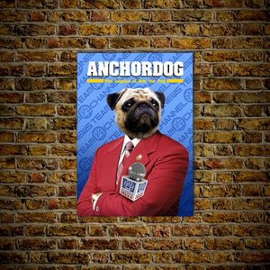 'Anchordog' Personalized Pet Poster