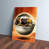 'Baby Yodogg' Personalized Pet Canvas