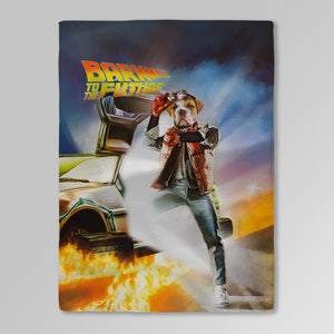 'Bark to the Future' Personalized Pet Blanket