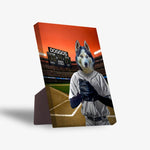 'The Baseball Player' Personalized Pet Standing Canvas