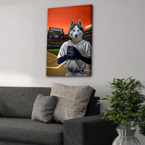 'The Baseball Player' Personalized Pet Canvas