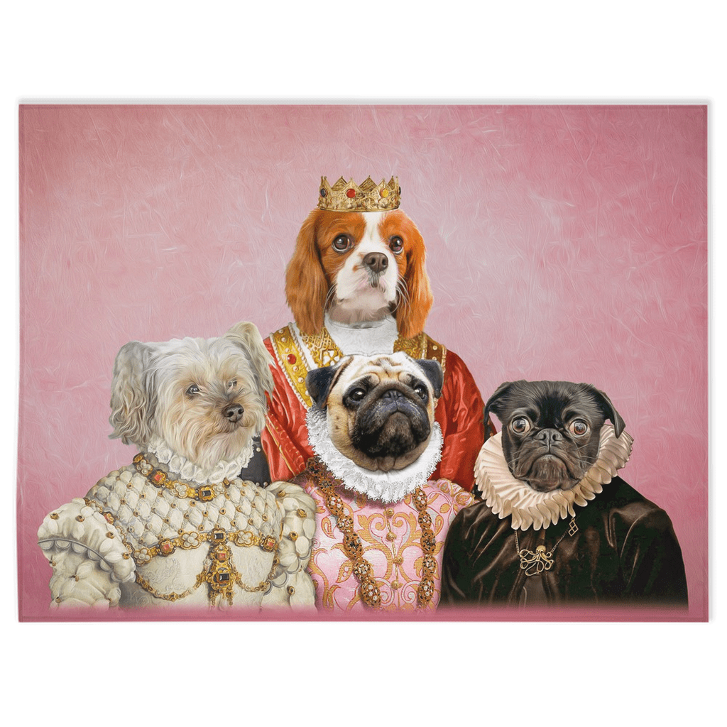 'The Royal Ladies' Personalized 4 Pet Blanket