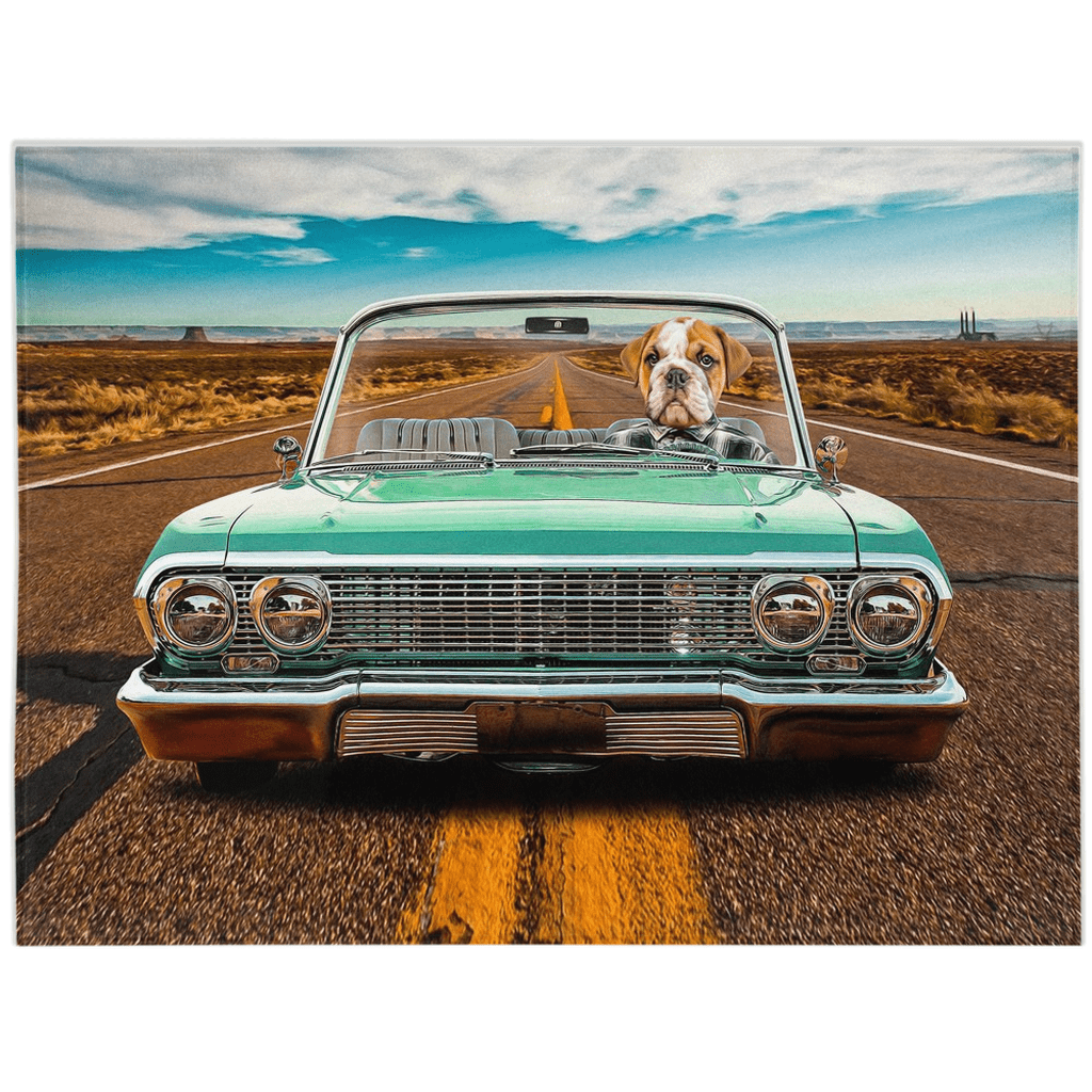 'The Lowrider' Personalized Pet Blanket