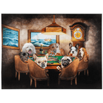 'The Poker Players' Personalized 7 Pet Blanket