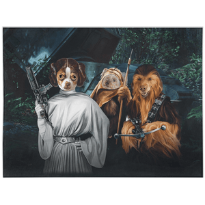 'Star Woofers 3' Personalized 3 Pet Blanket