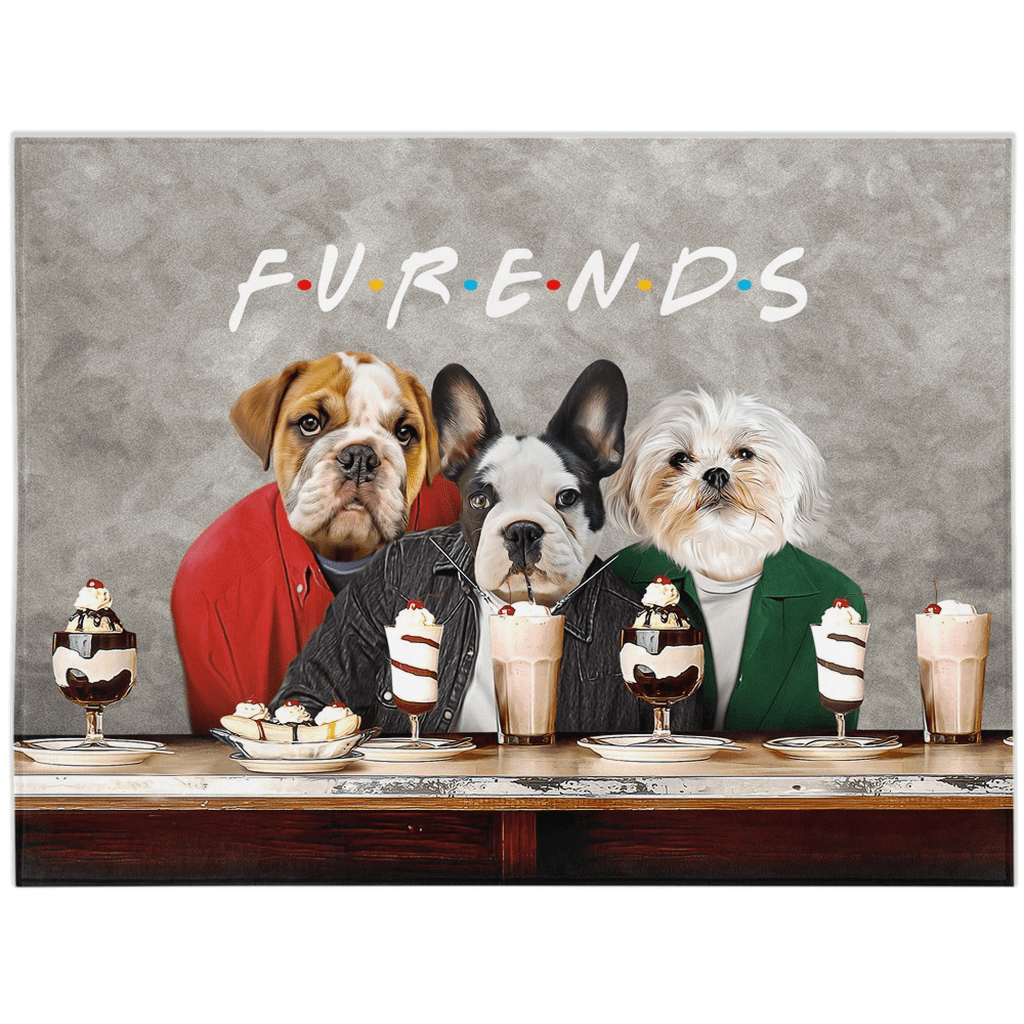 'Furends' Personalized 3 Pet Blanket