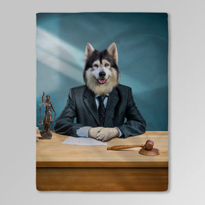 'The Lawyer' Personalized Pet Blanket