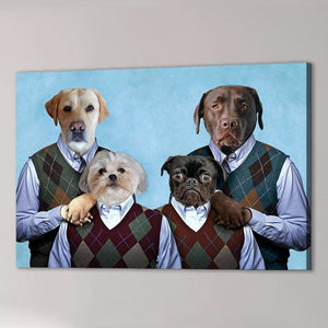 'Step Doggos' Personalized 4 Pet Canvas