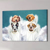 '4 Angels' Personalized 4 Pet Canvas