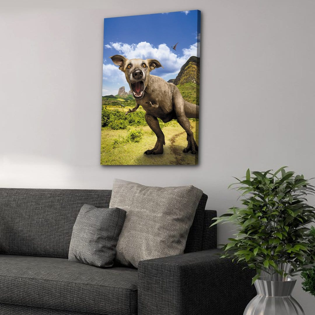 'Pawasaurus Rex' Personalized Pet Canvas