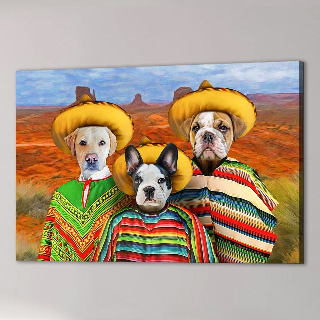 '3 Amigos' Personalized 3 Pet Canvas