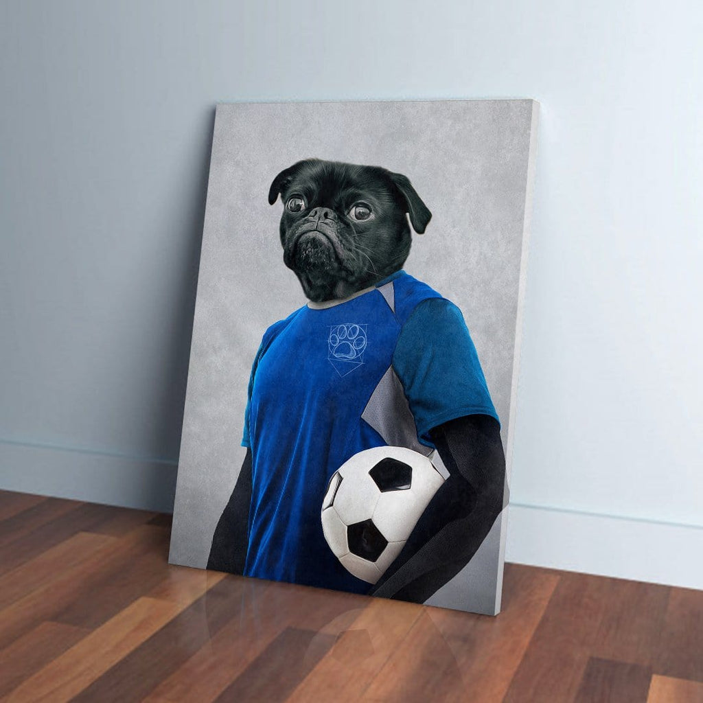 'Soccer Player' Personalized Pet Canvas