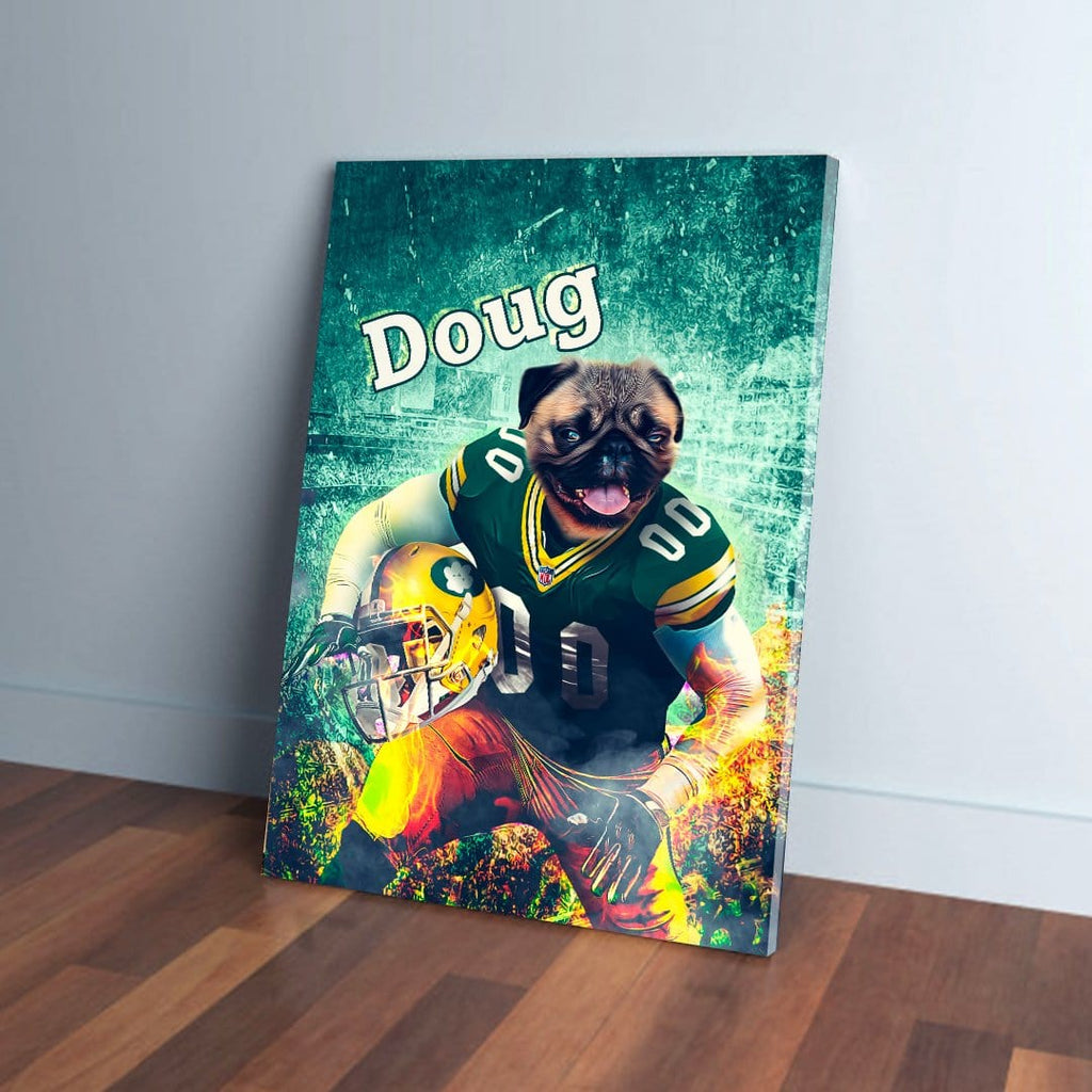 'Green Bay Doggos' Personalized Dog Canvas