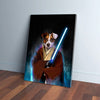 'Doggo-Jedi' Personalized Pet Canvas
