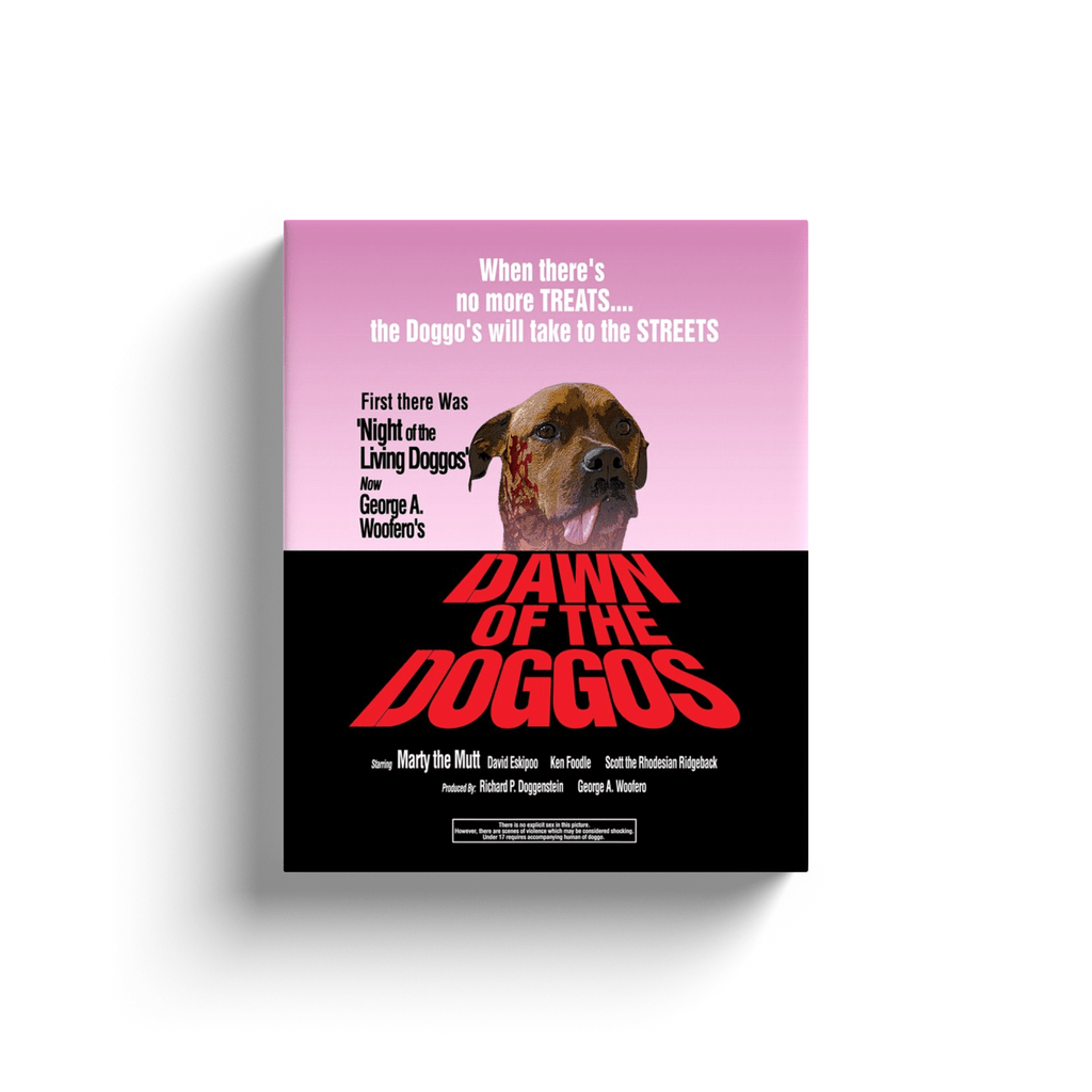 Dawn of the Doggos: Personalized Canvas