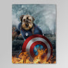 'Captain Doggmerica' Personalized Pet Blanket