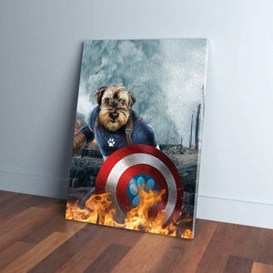 'Captain Doggmerica' Personalized Pet Canvas