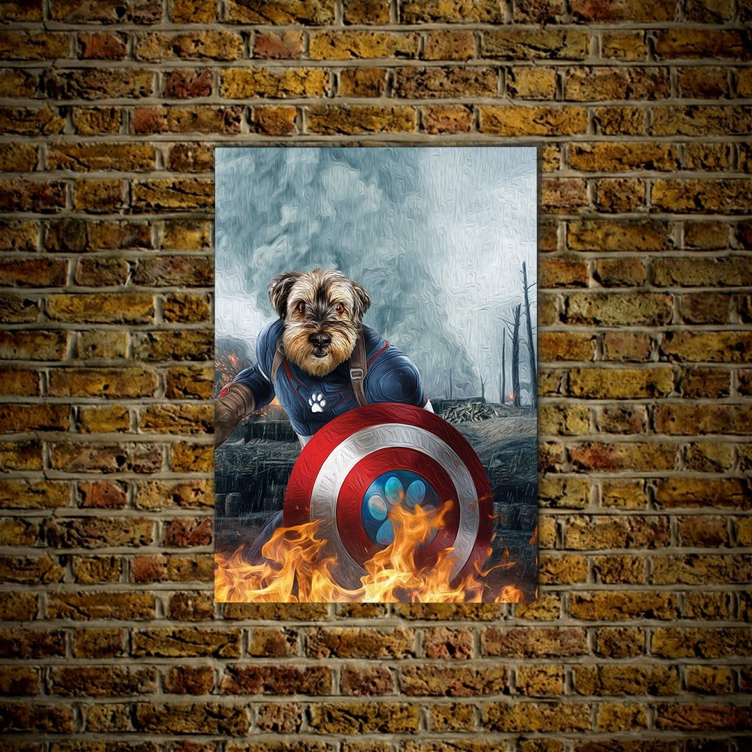 'Captain Doggmerica' Personalized Dog Poster