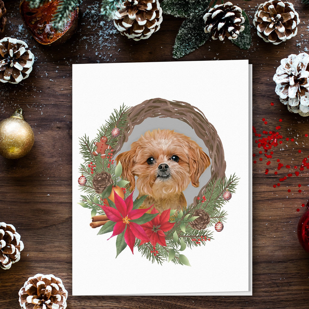 Doggovinci 1 Pet Personalized Christmas Cards