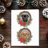 Doggovinci Personalized 2 Pet Christmas Cards