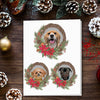 Doggovinci Personalized 3 Pet Christmas Cards
