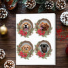 Doggovinci Personalized 4 Pet Christmas Cards