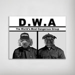 'D.W.A. (Doggo's With Attitude)' Personalized 2 Pet Poster