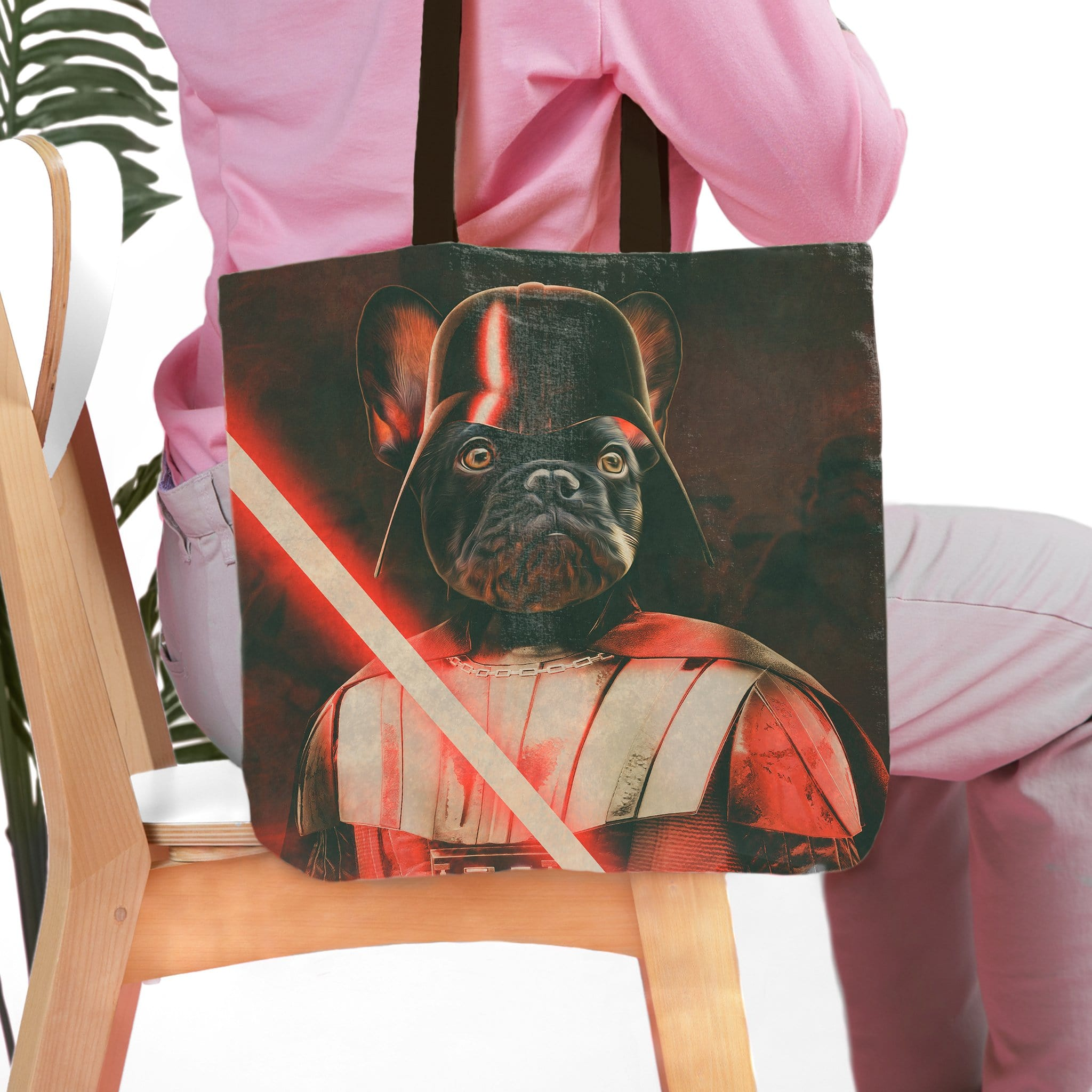 'Darth Woofer' Personalized Tote Bag