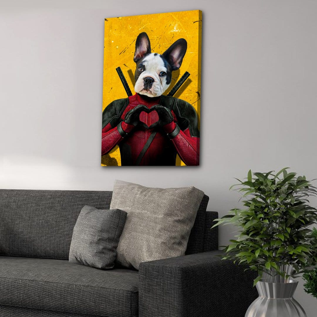 'Deadpaw' Personalized Pet Canvas