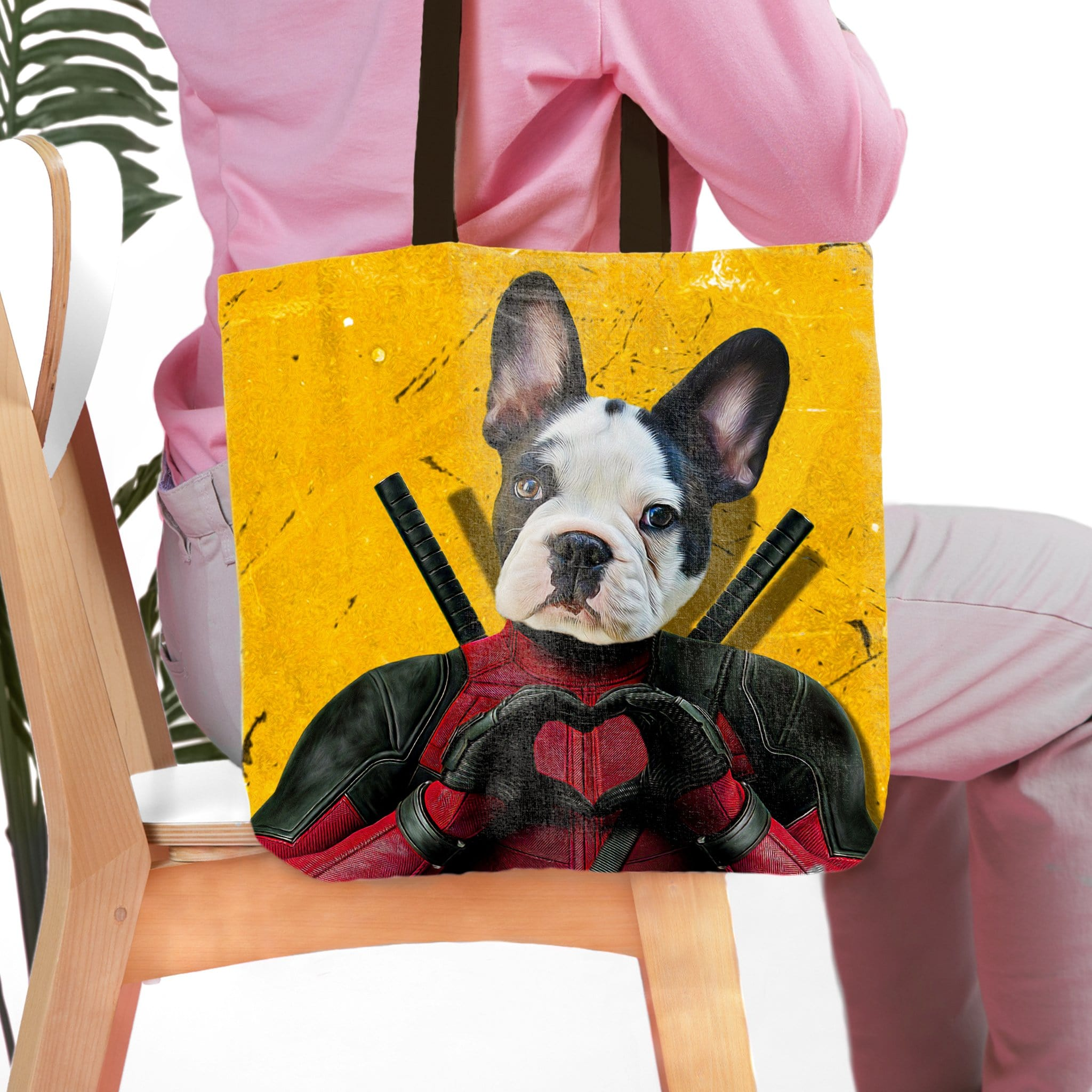 'Deadpaw' Personalized Tote Bag