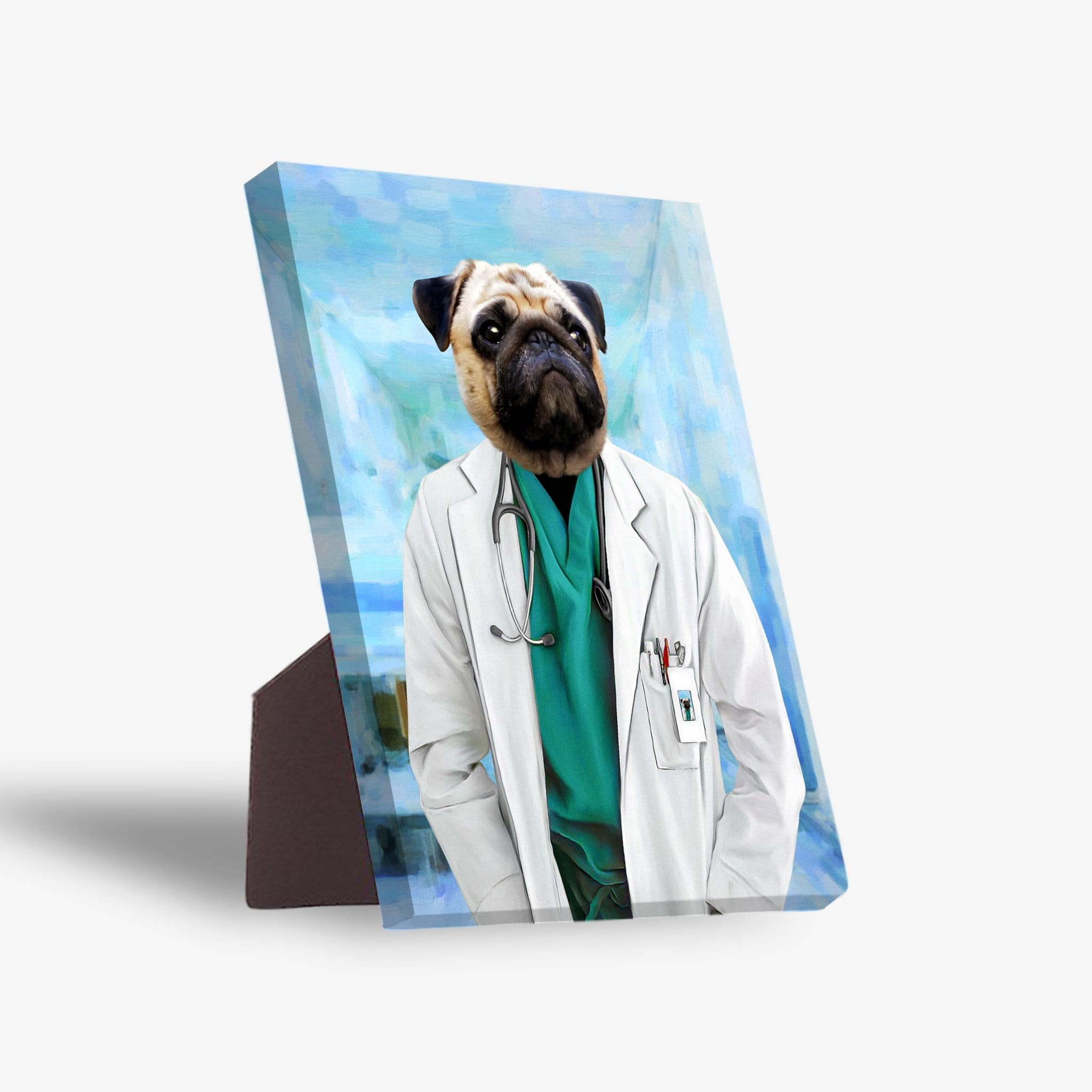 'The Doctor' Personalized Pet Standing Canvas