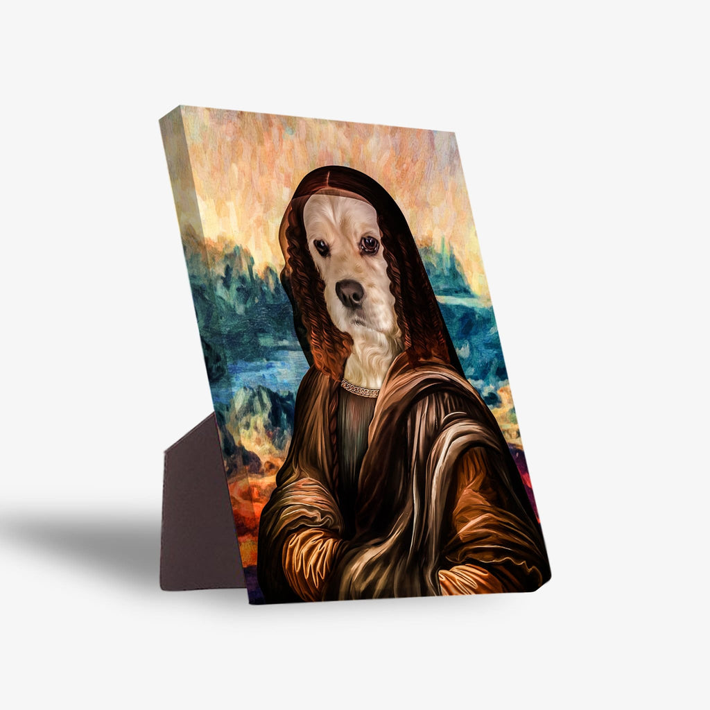 'Dogga Lisa' Personalized Pet Standing Canvas