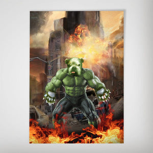 'Doggo Hulk' Personalized Dog Poster