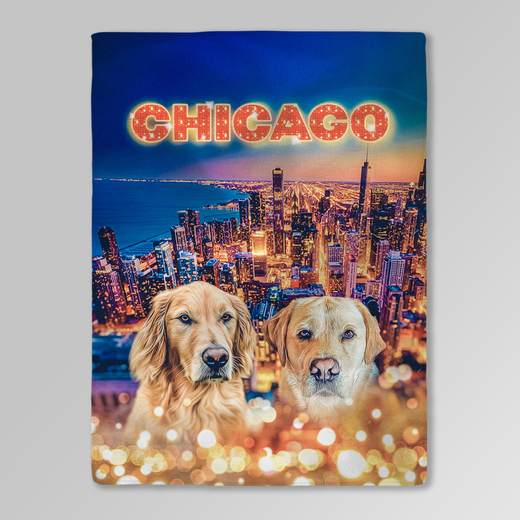 'Doggos of Chicago' Personalized 2 Pet Blanket
