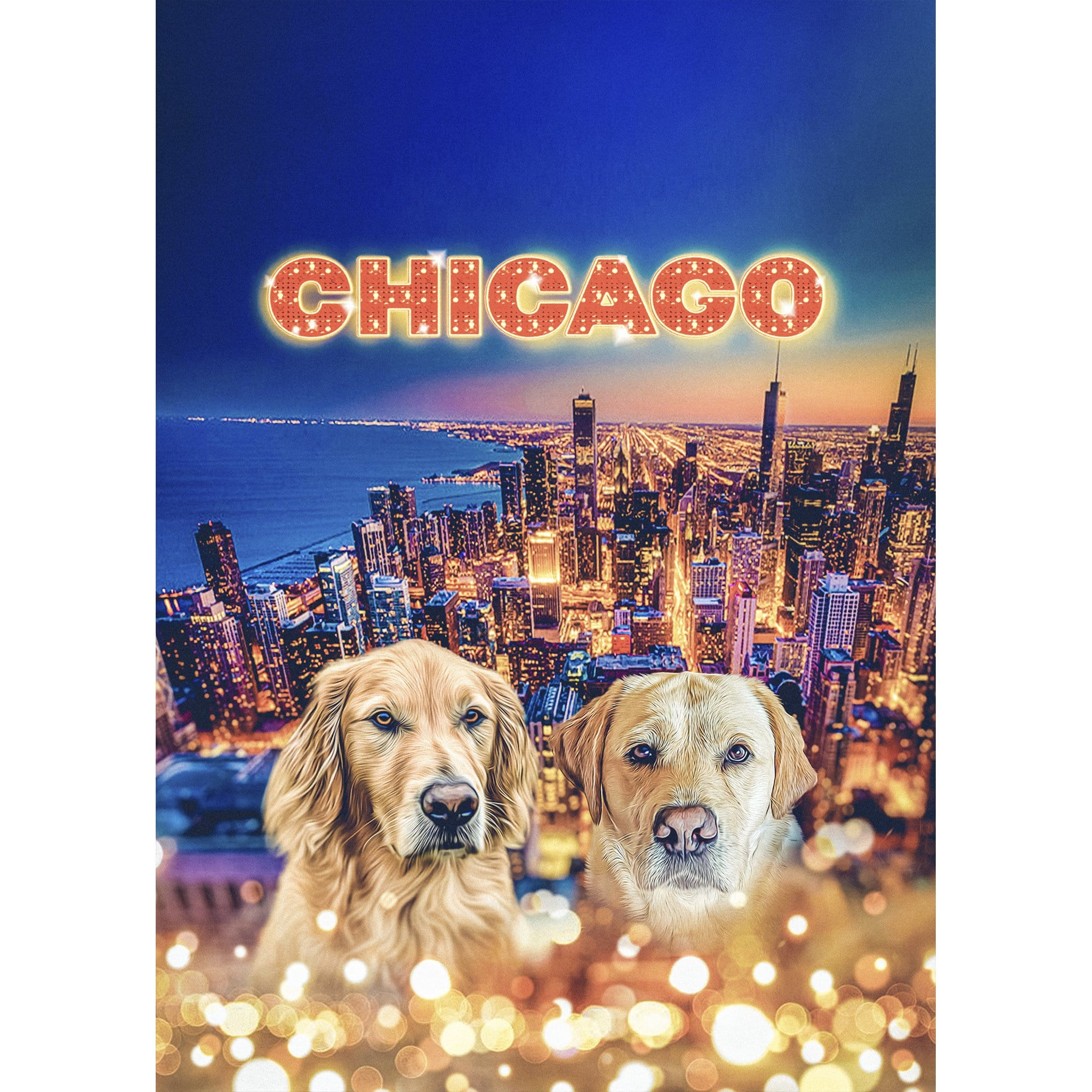 'Doggos Of Chicago' 2 Pet Digital Portrait