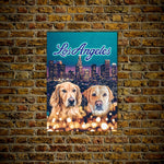 'Doggos of Los Angeles' Personalized 2 Pet Poster