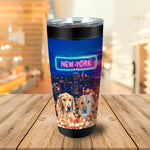 'Doggos of New York' Personalized 2 Pet Tumbler