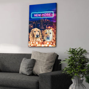 'Doggos of New York' Personalized 2 Pet Canvas