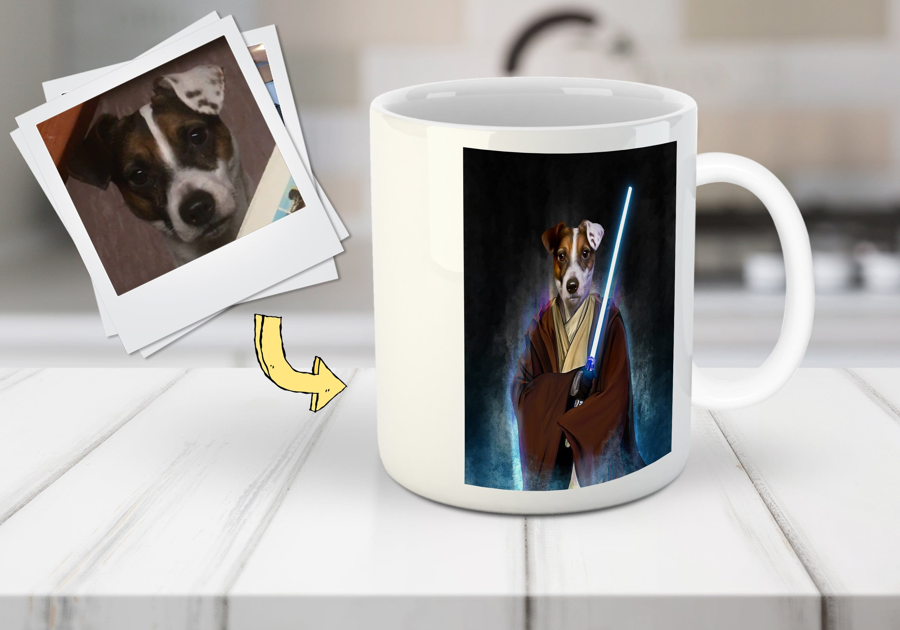 'Doggo-Jedi' Custom Pet Mug