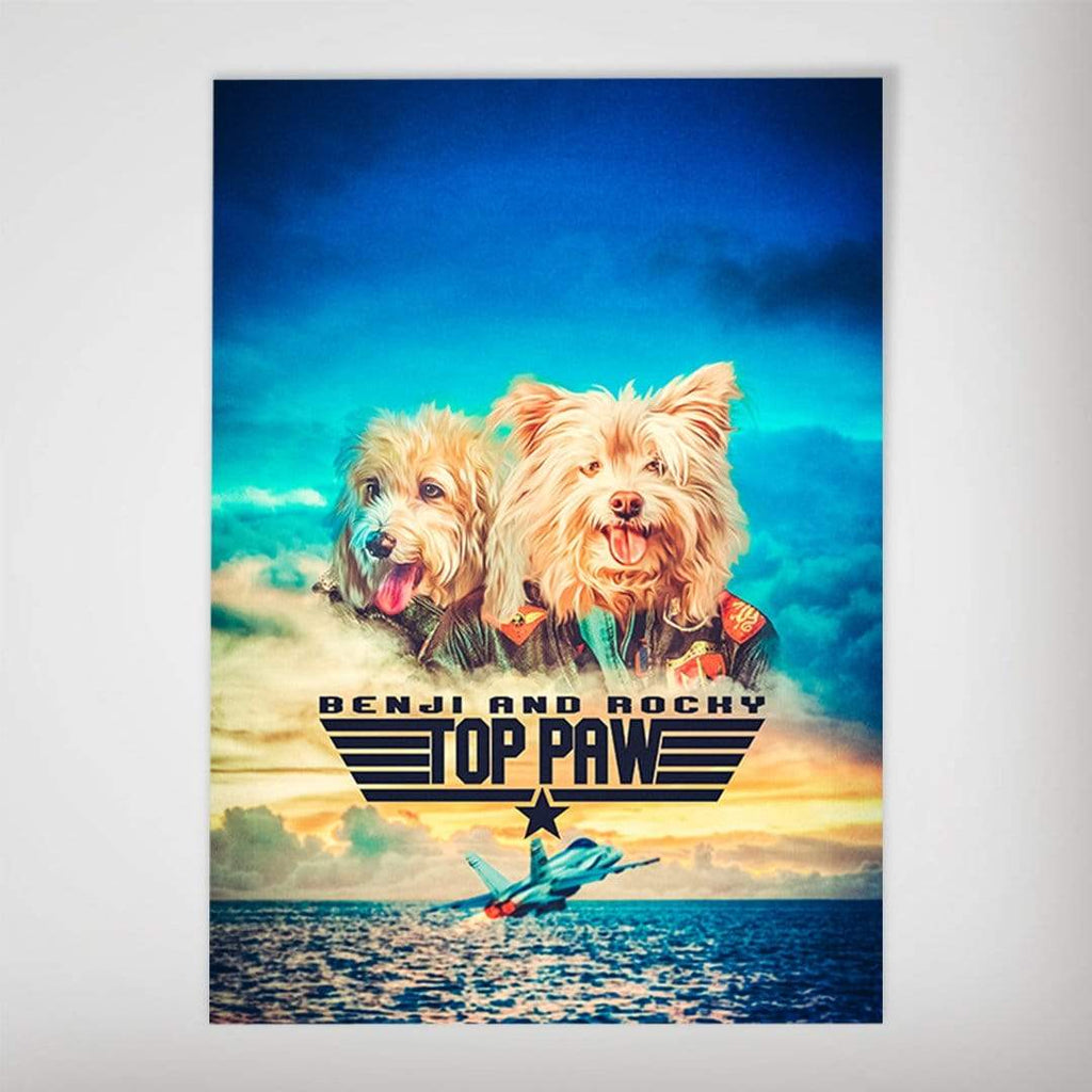 Top Paw: Personalized 2 Pet Poster