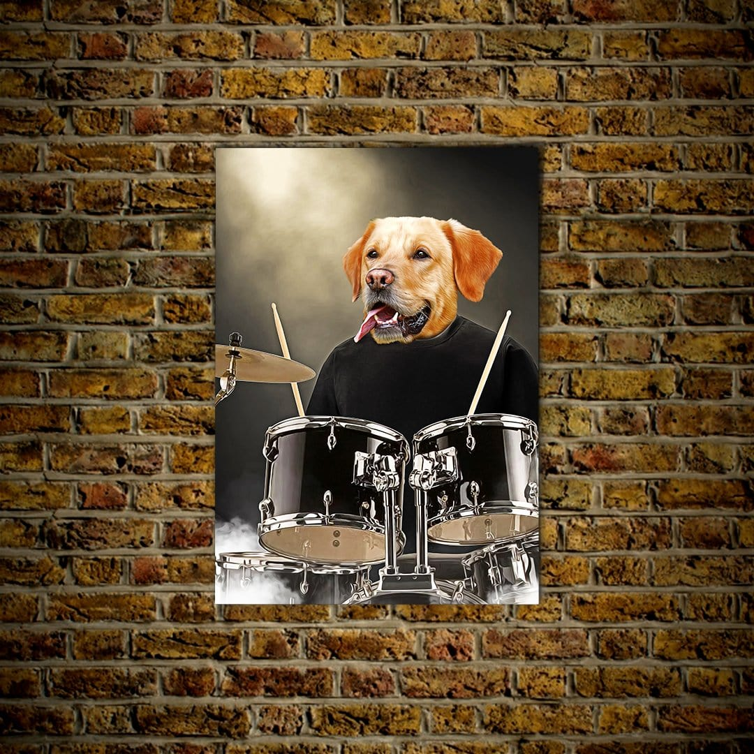 'The Drummer' Personalized Pet Poster
