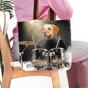 'Drummer' Personalized Tote Bag